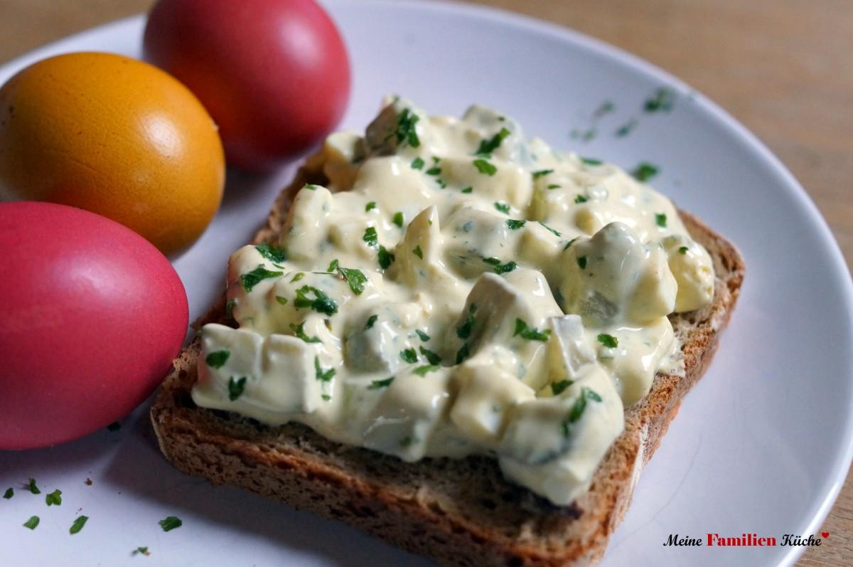 Eiersalat leicht und lecker ohne Mayonnaise