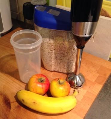 Zutaten Obst-Getreide-Brei